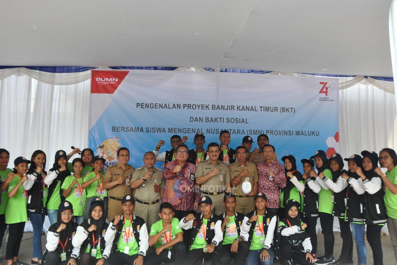 23 Pelajar SMA Asal Maluku Pelajar Berkunjung Ke BKT Jakarta Timur