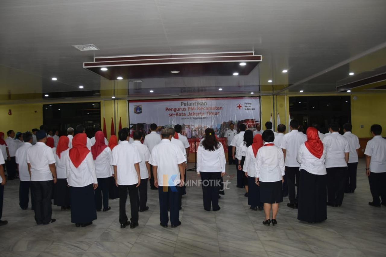 Pelantikan Pengurus PMI Kecamatan Di Jakarta Timur Periode 2019-2014