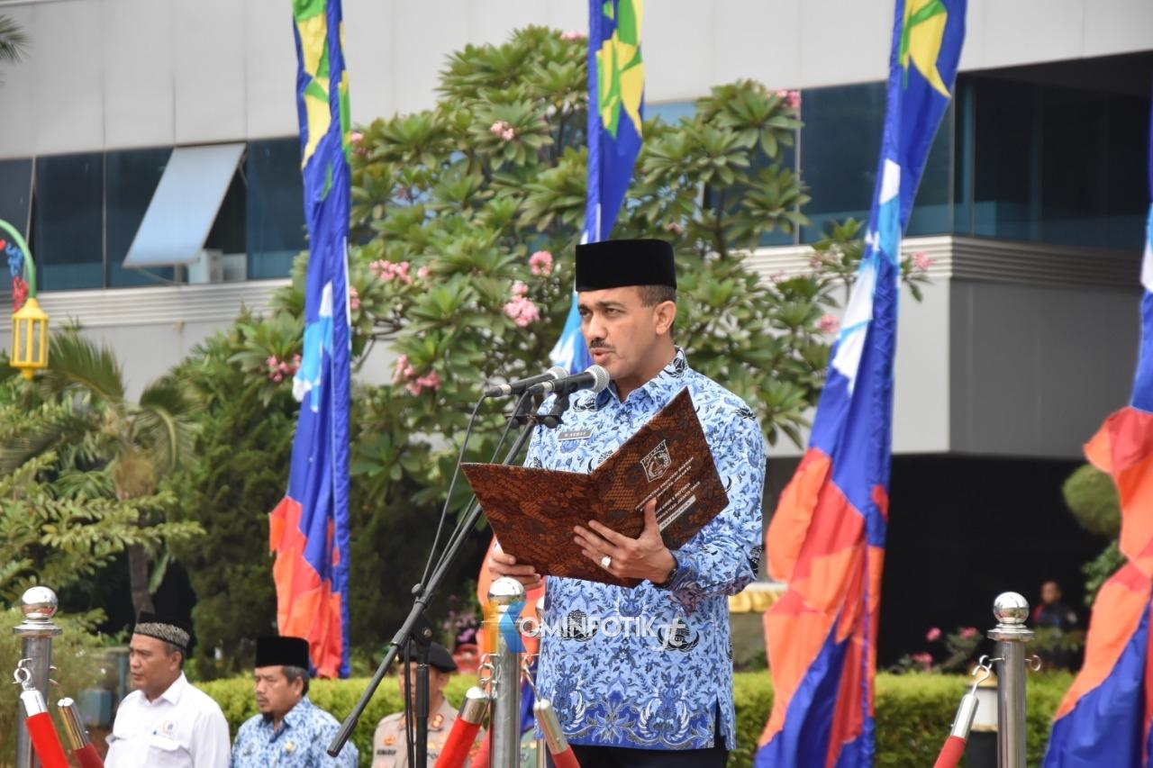 Upacara Peringatan Hari Rapat Raksasa IKADA Ke-74 Di Kantor Walikota Jaktim