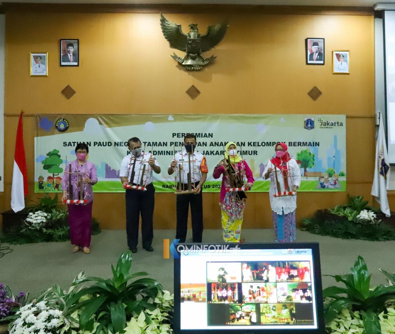 Peresmian Satuan Pendidikan Usia Dini (PAUD) Negeri Se-Jakarta Timur