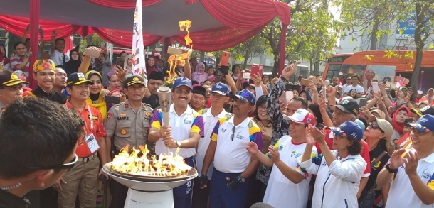 Diterima Wali Kota, Torch Relay Asian Games 2018 Keliling Jaktim