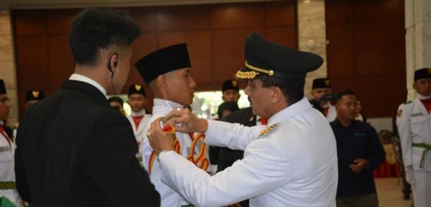 Wali Kota Kukuhkan Paskibraka Kota Jakarta Timur 2018
