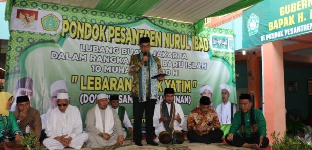 Gubernur DKI Hadiri Lebaran Anak Yatim Di Ponpes Nurul Ibad