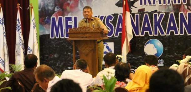 Seko Jaktim Hadiri Rakernas Ikatan Pemulung Indonesia