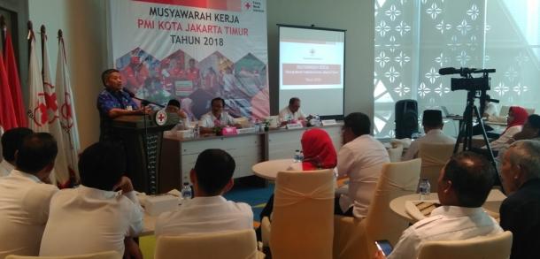 Sekko Buka Musyawarah Kerja PMI Kota Jaktim Tahun 2019