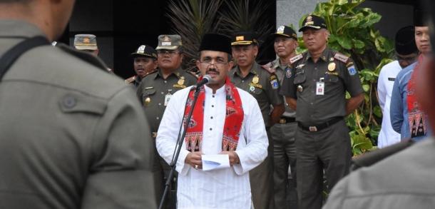 Wali Kota Pimpin Apel Operasi Praja Wibawa Tahun 2018