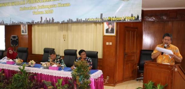Sekretaris Kota Administrasi Jakarta Timur Membuka Kegiatan Musyawarah Perencanaan Dan Pembangunan