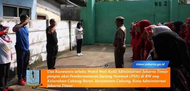 Wakil Wali Kota Administrasi Jakarta Timur Pimpin Aksi Pemberantasan Sarang Nyamuk (PSN)