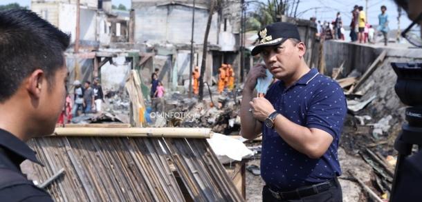 Wakil Wali Kota Tinjau Lokasi Kebakaran Di Jatinegara
