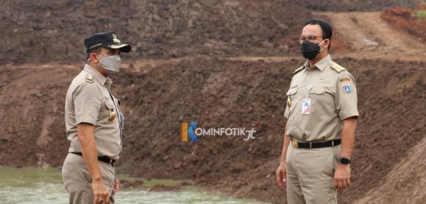 Gubernur DKI Jakarta Meninjau Perkembangan Waduk Pondok Ranggon