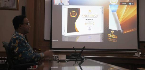 Pemprov DKI Terima Anugerah Keterbukaan Informasi Publik Tahun 2020